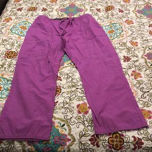 Purple scrub pants. Elastic/drawstring waist 2XL
